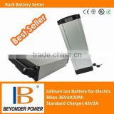 Hangzhou factory, High power li po battery for electric bicycle, 36V 20Ah assembly via 3.7v li polymer battery