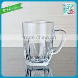 hot sale coffee glass cup cheap clear coffee glass cup with handle thin bottom coffee glass cup