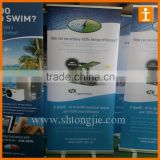 Blue display promotion roll up display,union roll up display