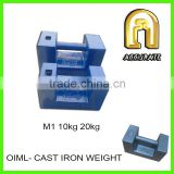 weight class M1 20kg 500kg 1000kg test weights, cast iron test weights, 20kg cast iron weights