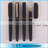 2016 gift box packing best selling luxury black metal fountain pen                                                                                                         Supplier's Choice