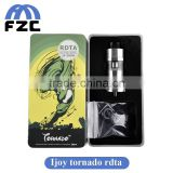 Alibaba express Ijoy Tornado RDTA 300watt High atomizer with 5ML Two Post Deck temperature control box mod