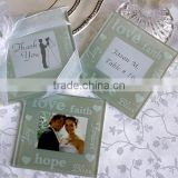INQUIRY about Clear glass photo insert coaster square glass coaster for wedding favors