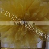 YHC#116 handmade artificial flower with metal stamen events banquet wedding chair cover table cloth