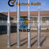 ground screw anchor for chain link fencing F114*1200