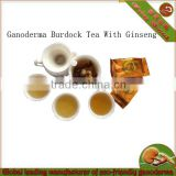 Healthy Tea blended with Reishi Ginseng and Burdock Root