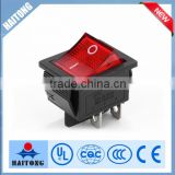 2016 hot selling waterproof 4pin rocker switch with red light RS-608,4P high quality China supplier