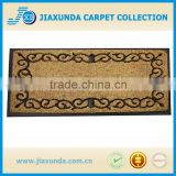 hand brush coir border mat doormat with ruber backing