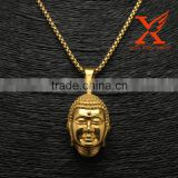 Stainless Steel 316L 18K Gold Plating Bulk Fashion Jewelry China Buddha Pendant Buddha Statue Pendant                                                                         Quality Choice