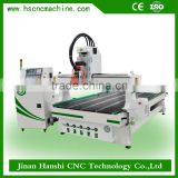 CNC Router plywood cutting machine working with PTP and banding machine can make Laminate flooring