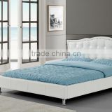 Exclusive italian design tufted and nailed faux leather PU bed                                                                         Quality Choice