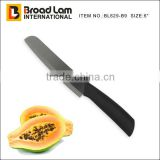 6 inch Chef Knife Black Satin Blade Zirconium Oxide material with ABS+TPR coating Handle