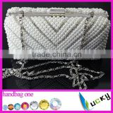 Top Quality crystal bags 100% handmade pearl beaded Luxurious party bags various ladies evening handbag