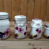 Ceramic Material and Tableware Use Airtight Ceramic Coffee Canister