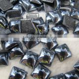 best price fashion 8x8mm jet hematite bright color ceramics beads for glue sticky
