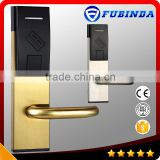 zinc alloy stainless steel free software M1 intelligent rf card hotel lock with pro usb card system