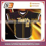 Baseball uniform custom sublimated baseball jersey/ softball jersey in polyester dry fit