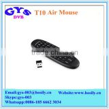 T10 2.4GHz Air Mouse Rechargeable Remote Control Wireless Mouse With Keyboard for Android TV Box