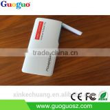 Wholesale Power Bank 5200mAh LED Lamp Portable Charger Universal Phone Mobile Power Supply for iPhone Charger
