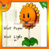 Chinese Factory Provide Lovely Sunflower Paper Wall sticker lamp