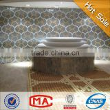 HF JY-L08 best selling Liaisons Marrone bathroom mosaic tiles floor pattern mosaic decorative pictures for bathrooms