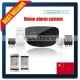 50 wireless zones RFID tag alarm system with LCD and Touch keypad