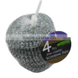 JML 2015 Hot Selling Stainless steel scourer metal cleaning galvanized ball Steel wire scourer with bag packing