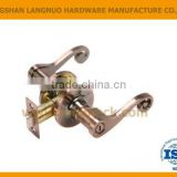 High security zinc alloy antique copper finish reversible tubular privacy door lock set