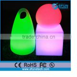 decorative illuminated led cube chair light cube seat,rgb color changing led christmas light
