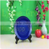 Modern Round And Square Shape Various Sizes Custom Printed Purple Dinner Sets Dinnerware Soup Plates Ceramics