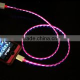 2014 hot light up usb charging cable for micro jack mobile phone