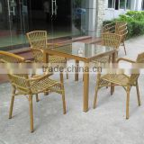 AS-6125 guangzhou beach outdoor bamboo furniture fty --- outdoor bamboo chair table manufacturer