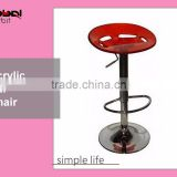 Bar Furniture Stool Acrylic Counter Height Swivel Bar Chairs With Footrest