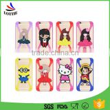 New design fashion shockproof Elastic Universal Silicone Phone Holder 3D Cartoon Soft Silicone phone case