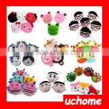 UCHOME Custom Animal Fruit Design Mini Zip Plush Key Money Coin Purse