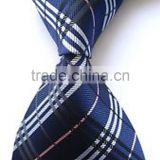 Navy blue striped silk necktie, classic wear for party, ceremony, feast, banquet wear