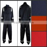NFPA 70E cotton nylon fire resistant clothing with reflective tapes for oil field workers