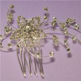 Pearl Wedding Comb - Crystal Jeweled Bridal Hair Accessory