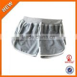 Garment dyed 95% cotton 5% spandex slim fit anti-pilling crossfit shorts wholesale blank sweat shorts women