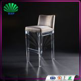 Luxury Step Bar Stool Acrylic Reading Chair Popular Bar Chair With Backrest