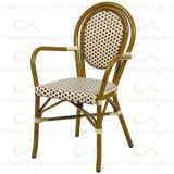 Synthetic Rattan & Bamboo Aluminum Outdoor Commercial Restaurant Chairs