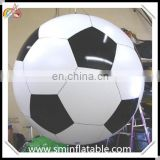 Commercial inflatable football helium, pvc inflatable football sphere, advertising soccer replica helilum balloon for promotion