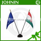 two-pole 100% polyester stand-provided high quality table flag