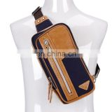factory adjustable leather cross body bag for cycling