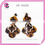 2014 fashion retro tortoise flower design shell earring