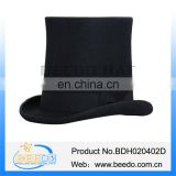 Chic black steampunk top hat for women with leather sweatband