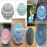 Indian Round Mandala Pouf Cover Decorative Cotton Pillow Case Vintage Footstool 30'' SSTH54