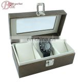 PU Leather Watch Box Pakcage with PVC Window