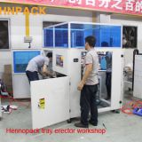 Auto tray erecting machine (CE) Custom-made hot melt version auto glue sealing tray erector