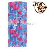 Light bule pink flower multi functional seamless 100%polyester printing bandana on sale 2016